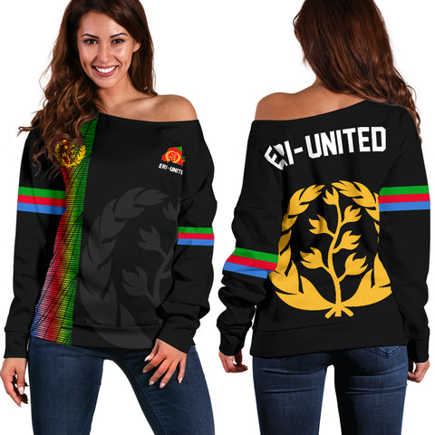Image of Eritrea Off Shoulder Sweater - Eritrea United A7