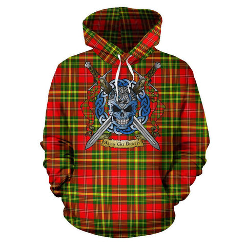 Leask Tartan Hoodie Celtic Scottish Warrior A79 | Over 500 Tartans | Clothing | Apaprel
