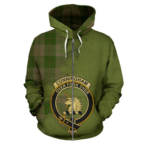 Cunningham Dress Green Dancers  Royal All Over Hoodie (Zip)
