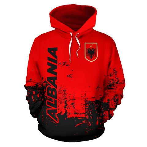 Albania All Over Hoodie - Smudge Style