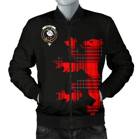 Image of Wemyss Tartan Lion And Thistle Bomber Jacket for Men