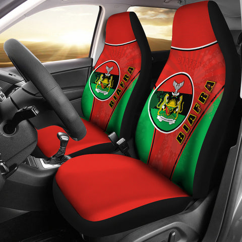 Biafra Car Seat Covers Circle Stripes Flag Proud Version