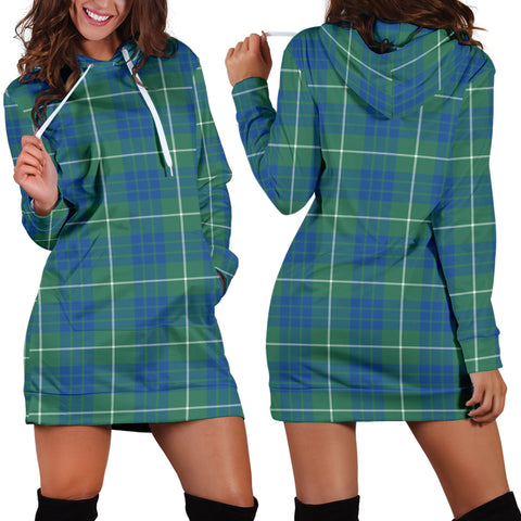 Hamilton Hunting Ancient Tartan Hoodie Dress HJ4 |Women's Clothing| 1sttheworld