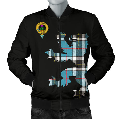 Thomson Tartan Lion And Thistle Bomber Jacket for Men