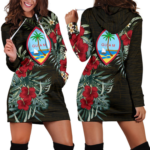 Image of Guam Hibiscus Hoodie Dress A7