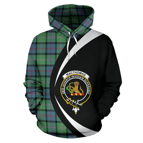 Image of (Custom your text) MacThomas Ancient Tartan Circle Hoodie