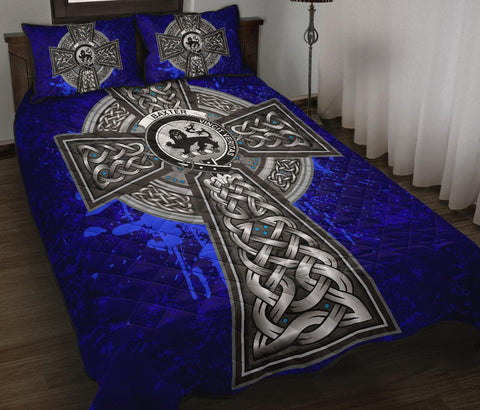 Baxter Crest Scottish Celtic Cross Scotland Quilt Bed Set | Over 300 Clans | Home Set