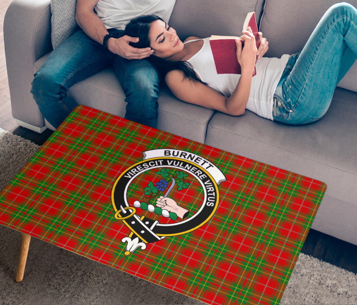 Burnett Ancient Crest Tartan Rectangular Coffee Table