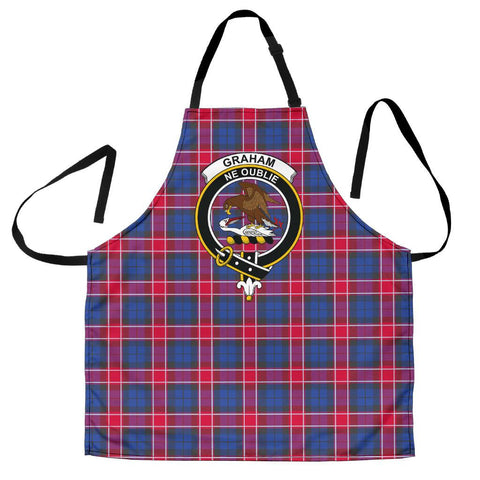 Graham of Menteith Red Tartan Clan Crest Apron