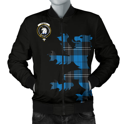 Ramsay Tartan Lion And Thistle Bomber Jacket for Men