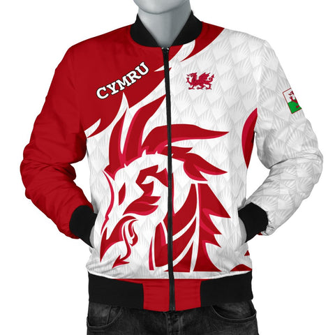 1stTheWorld Welsh Bomber Jacket - Welsh Dragon Red (Men) A10