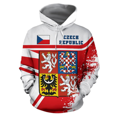 Image of Czech Republic Hoodie Painting Style | 1sttheworld.com