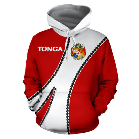 Image of Tonga Hoodie Coat Of Arms - Sports Style