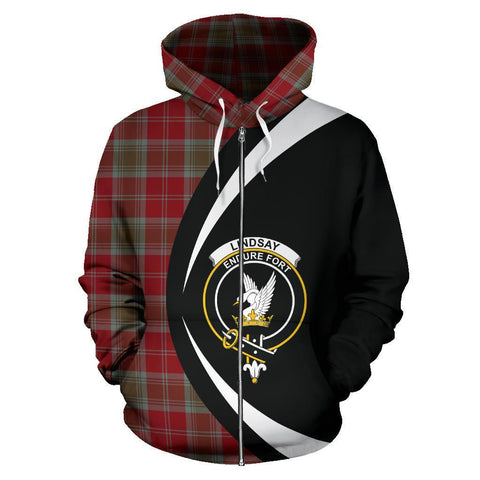 Lindsay Weathered Tartan Circle Zip Hoodie