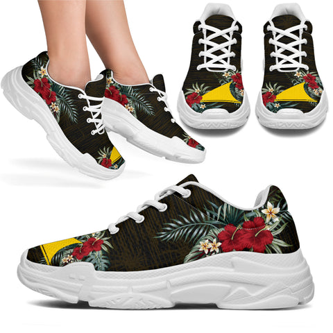 Tokelau Hibiscus (Men/Women) Chunky Sneakers A7