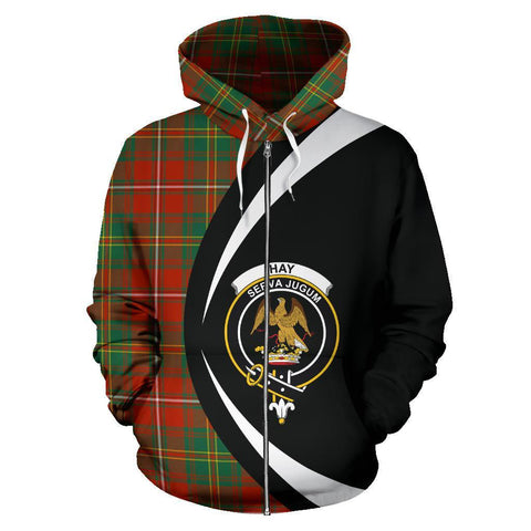 Image of Hay Ancient Tartan Circle Zip Hoodie