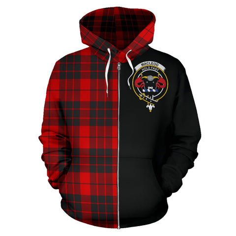 Image of MacLeod of Raasay Tartan Hoodie Half Of Me | 1sttheworld.com
