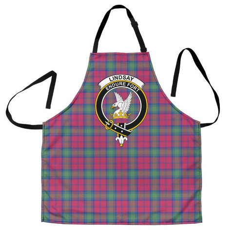 Image of Lindsay Ancient Tartan Clan Crest Apron HJ4