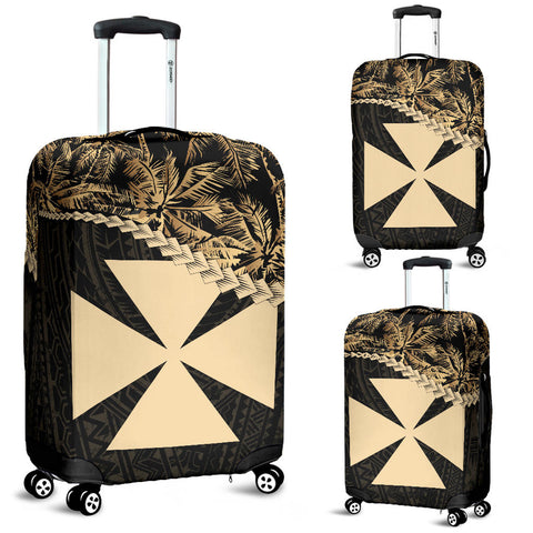 Wallis And Futuna Luggage Covers Golden Coconut A02
