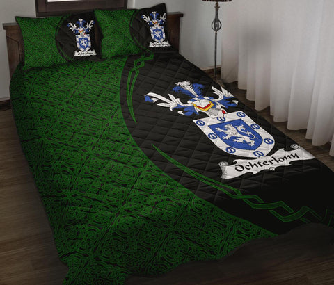 Ochterlony Family Crest Quilt Bed Set Circle