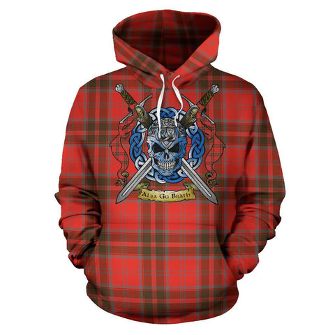 Grant Weathered Tartan Hoodie Celtic Scottish Warrior A79 | Over 500 Tartans | Clothing | Apaprel