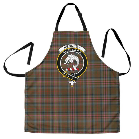 Image of Kennedy Weathered Tartan Clan Crest Apron