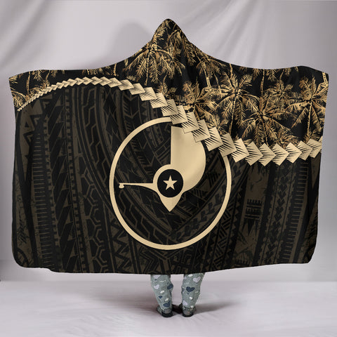 Yap Hooded Blanket Golden Coconut A02