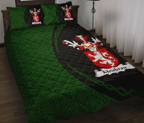 Moubray Family Crest Quilt Bed Set Circle