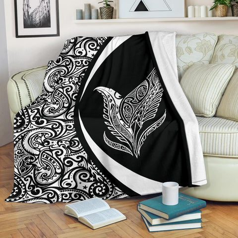 New Zealand Silver Fern Maori Premium Blanket - Circle Style