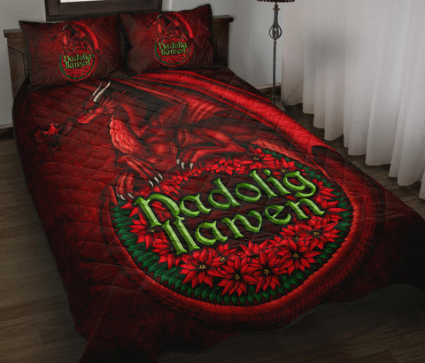 Wales Quilt Bed Set - Christmas Dragon