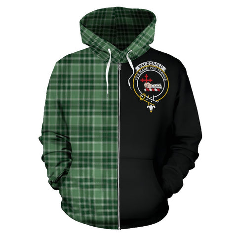 MacDonald Lord of the Isles Hunting Tartan Hoodie Half Of Me | 1sttheworld.com