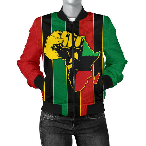 Pan Africa Women's Bomber Jacket - We Are Proud To Be-BN1525