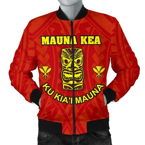 Hawaii Mauna Kea Men's Bomber Jacket - Tiki Mask