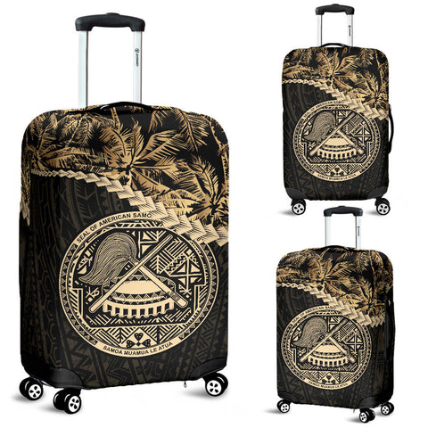 American Samoa Luggage Covers Golden Coconut | Love The World