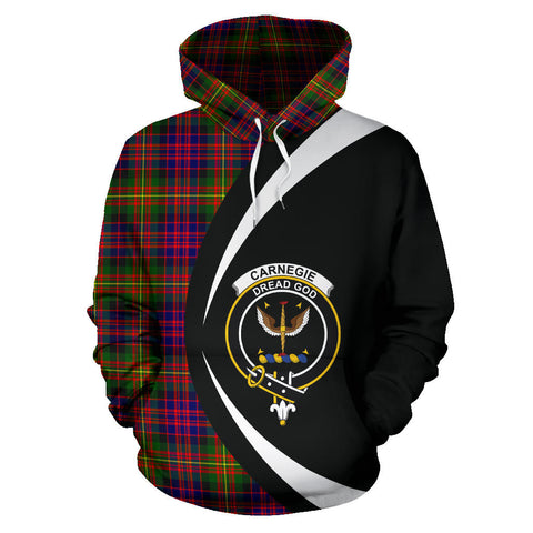 Image of (Custom your text) Carnegie Modern Tartan Circle Hoodie