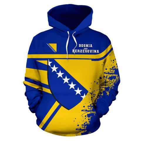 Image of Bosnia and Herzegovina Hoodie Painting Style | 1sttheworld.com