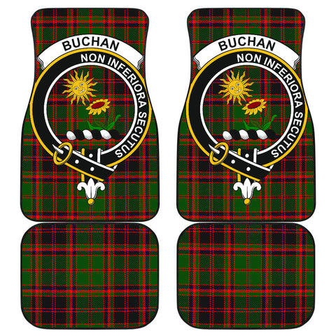 Buchan Modern  Tartan Clan Badge Car Floor Mat 4 Pieces K7