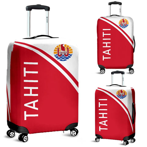 Tahiti Luggage Cover - Curve Version - Bn04 | Love The World