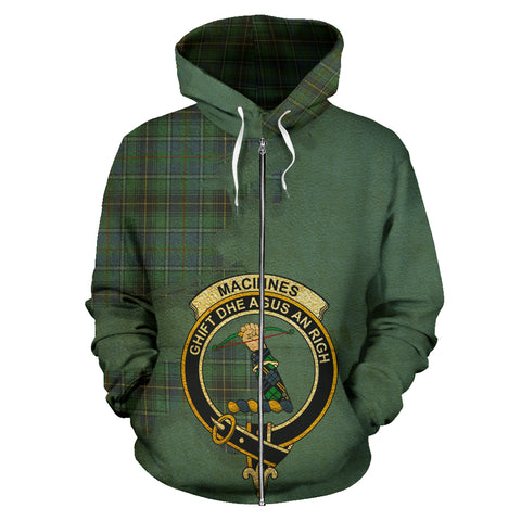 MacInnes Ancient  Royal All Over Hoodie (Zip)