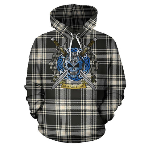 Menzies Black & White Ancient Tartan Hoodie Celtic Scottish Warrior A79 | Over 500 Tartans | Clothing | Apaprel