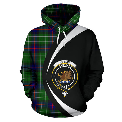 (Custom your text) Leslie Hunting Tartan Circle Hoodie