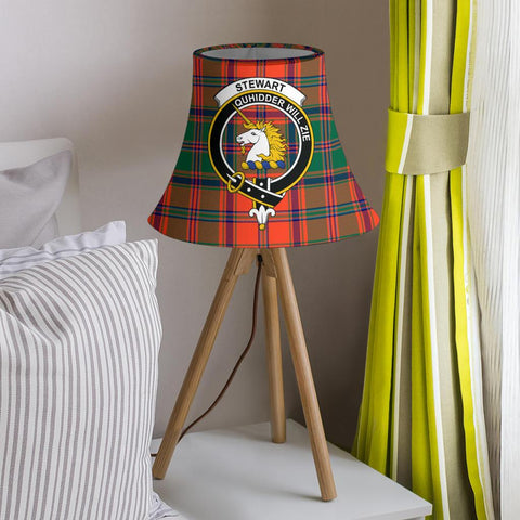 Image of Stewart of Appin Ancient Tartan Clan Crest Bell Lamp Shade HJ4