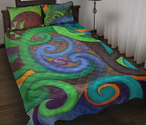 Image of Maori Quilt Bed Set, Maori Home Set, Maori New Zealand