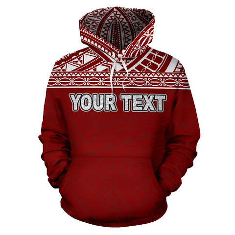 Image of Poly All Over Print Hoodie - Polynesian Red Custom Version - BN09