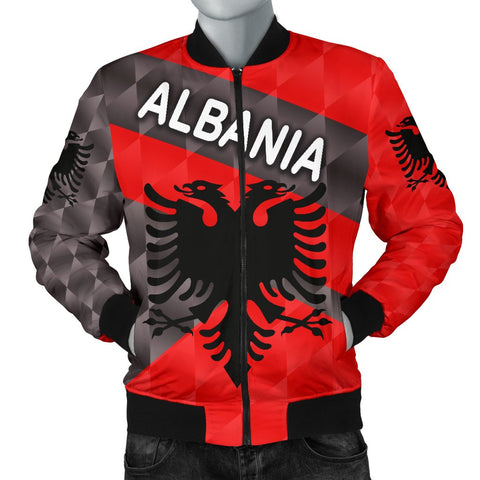 Image of Albania Men Bomber Jacket Sporty Style | 1sttheworld