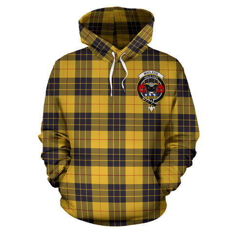 Image of Macleod Of Lewis Tartan Clan Badge Hoodie HJ4
