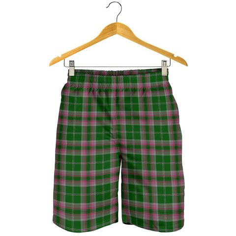 Image of Gray Hunting Tartan Shorts For Men