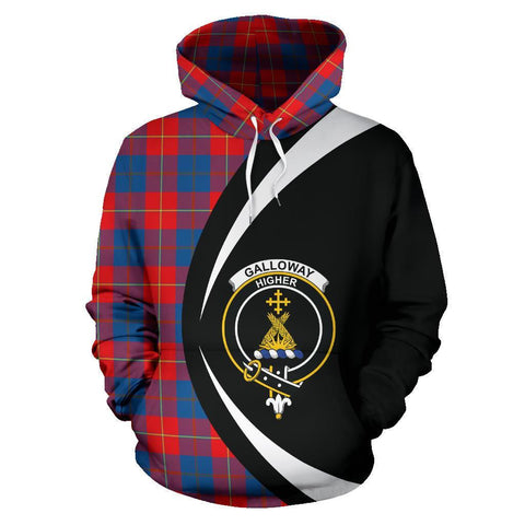 Image of Galloway Red Tartan Circle Hoodie