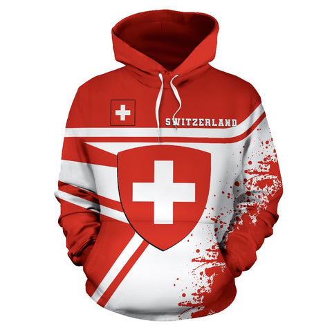 Switzerland Hoodie Painting Style | 1sttheworld.com