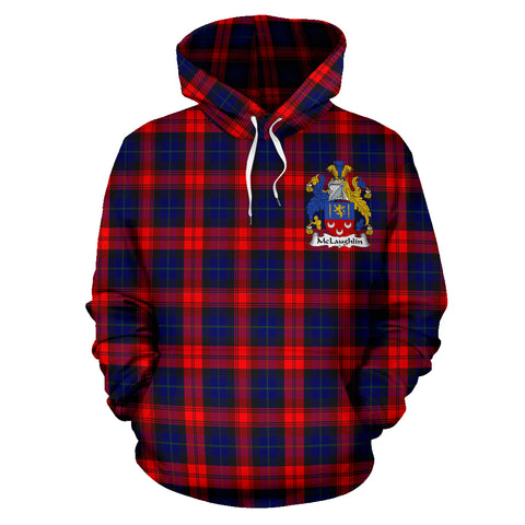 Mclaughlin Tartan Tartan Clan Badge Hoodie HJ4